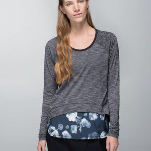 Lululemon Layered Long Sleeve Tee, Size 2